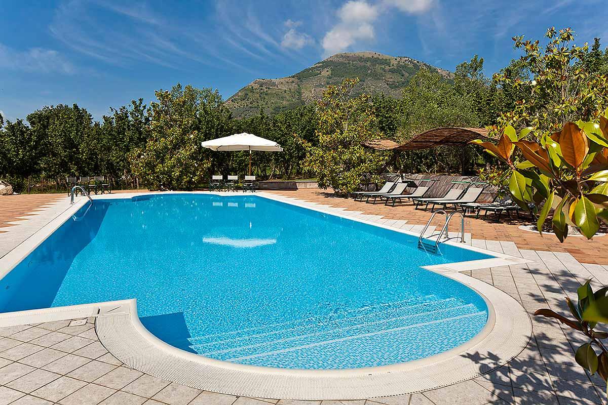 La piscina di Villa Rizzo